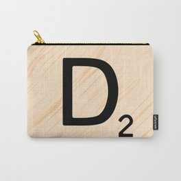Scrabble Letter D - Large Scrabble Tiles Carry-All Pouch