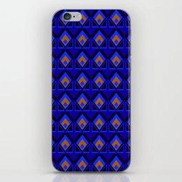 Blue and Orange Pattern iPhone Skin