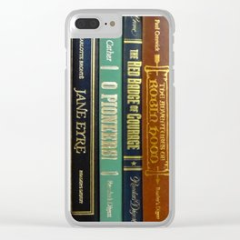 Books 3 Clear iPhone Case