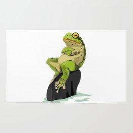 Relaxing Frog Rug