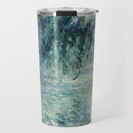 1898-Claude Monet-Morning on the Seine- 73 x 91 Travel Mug