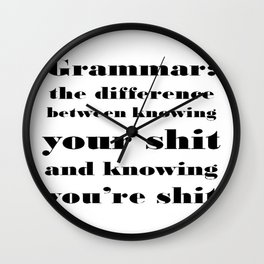 Grammar: The Difference Between Your and You're Wall Clock