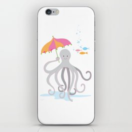Sweet octopus with a Parasol iPhone Skin