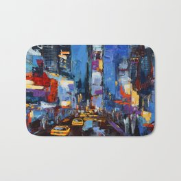 Saturday Night in Times Square Bath Mat