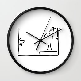 bath shower Wall Clock