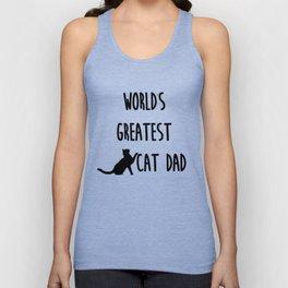 World's Greatest Cat Dad Unisex Tank Top