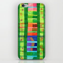 Colored Fields With Bamboo iPhone Skin
