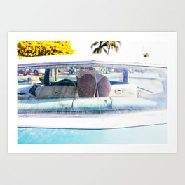 In The Cadillac Art Print