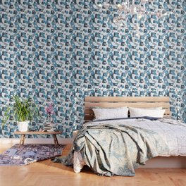 Pattern in Barek & Marta company collors Wallpaper