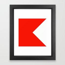 Semaphore B Framed Art Print