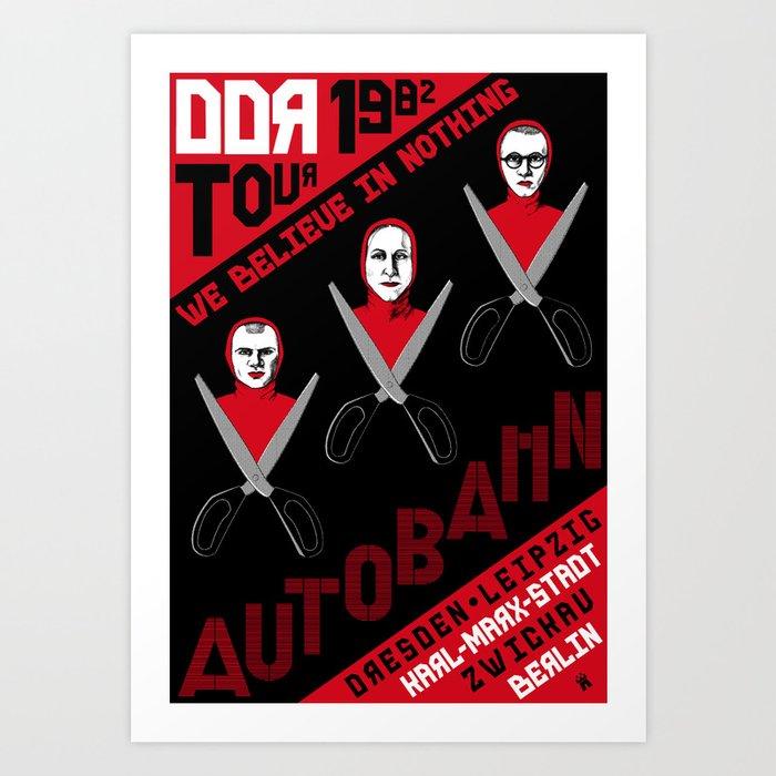 Autobahn--East German Tour 1982 Art Print