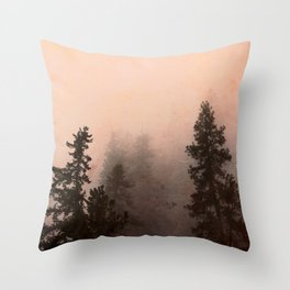 Deep in Thought - Forest Nature Photography Throw Pillow