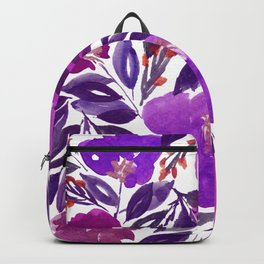 hand painted flowers_3b Backpack