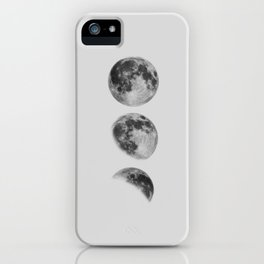 Moon Phase Wall Art Moon Home Decor Moon Phases Nursery Decor Poster Minimalist Print Gothic Boho iPhone Case