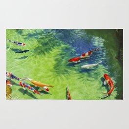 Fish watercolor IV Rug
