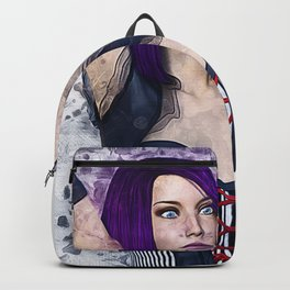 Gothic Steampunk Woman Backpack