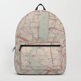 Vintage Map of Westchester County NY (1893) Backpack