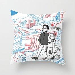 Two cities / Dos ciudades Throw Pillow