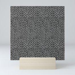 Hand Knit Dark Grey Mini Art Print