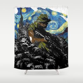 The Silent Soldier Shower Curtain