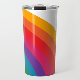 Retro Bright Rainbow - Right Side Travel Mug