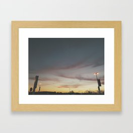 San Jose Sunstt Framed Art Print