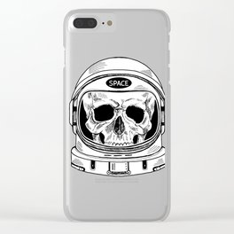 space  skull Clear iPhone Case