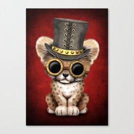 Steampunk Baby Cheetah Cub Canvas Print