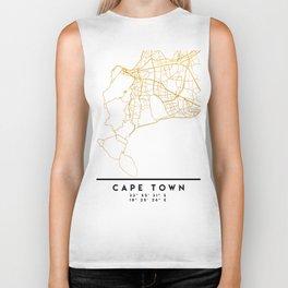 CAPE TOWN SOUTH AFRICA CITY STREET MAP ART Biker Tank