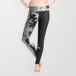 Black and white Christmas pattern Leggings