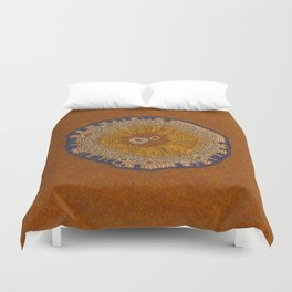 Growing - ginkgo - plant cell embroidery Duvet Cover