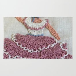 Lady with Parasol Rug