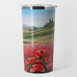 Italian Poppy Field Travel Mug
