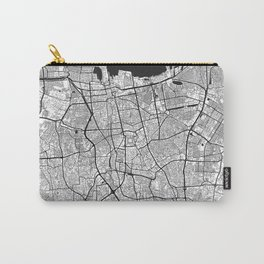 Jakarta Map Gray Carry-All Pouch