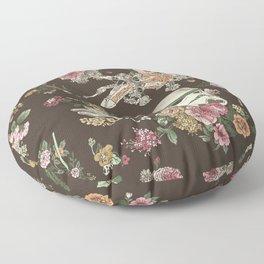 Botanic Wars Floor Pillow