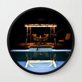 A Swim At Midnight Wall Clock