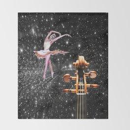 Violin and Ballet Dancer number 1 Throw Blanket