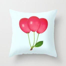 CHERRY BALLOONS Throw Pillow