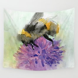 Watercolor Bee 7 Wall Tapestry