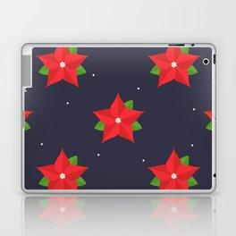 Poinsettia Christmas Pattern Laptop & iPad Skin