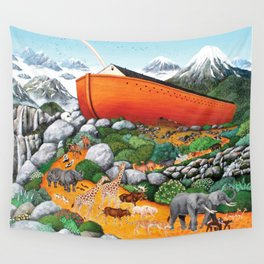 A New Beginning (Noah's Ark) Wall Tapestry