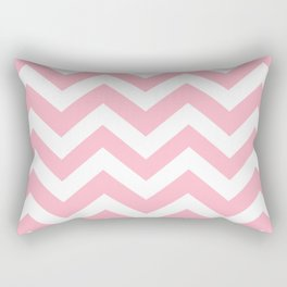 Cherry blossom pink - pink color - Zigzag Chevron Pattern Rectangular Pillow