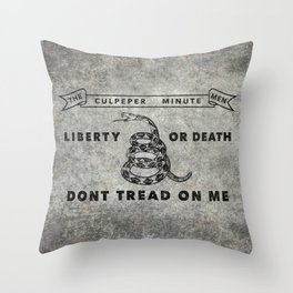 Culpeper Minutemen flag, aged vintage style Throw Pillow
