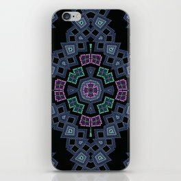 Embroidered beads pattern 1 iPhone Skin