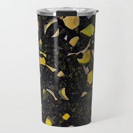 Black terrazzo and yellow Travel Mug