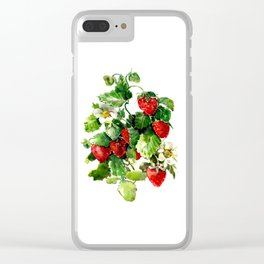 Strawberries Clear iPhone Case