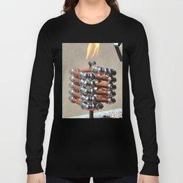 Copper and Chrome Slinki Tiki Torch - FredPereiraStudios.com_Page_12 Long Sleeve T-shirt
