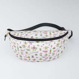 Robots-Pink Fanny Pack