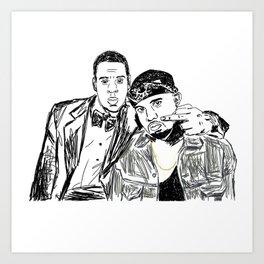 Jay & Ye Art Print