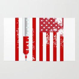 Nurse Doctor RN American Flag USA Rug
